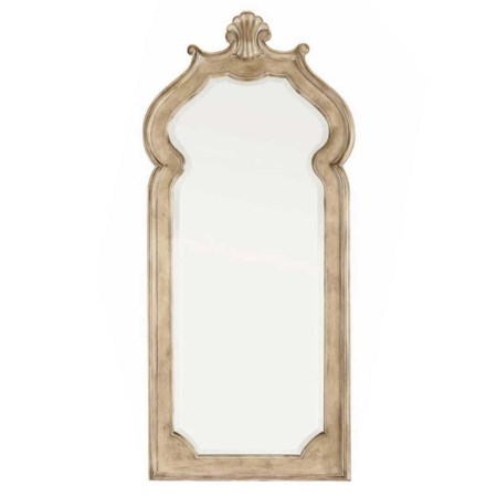 Beveled Nightstand Mirror with Wall Mount Mirror Support