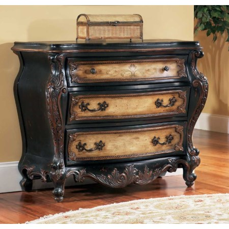 Bombe Demilune Chest with Hand Painted Accents
