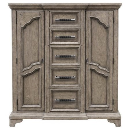 Traditional Door Chest with Adjustable Shelves