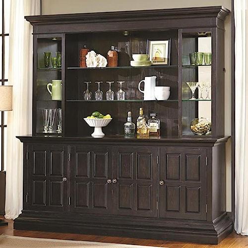Pulaski Furniture Burton Back Bar With Hutch Godby Home Furnishings Buffet Noblesville