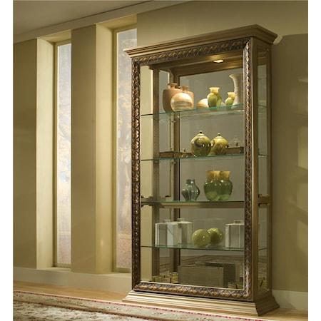 Antique Silver Curio Cabinet