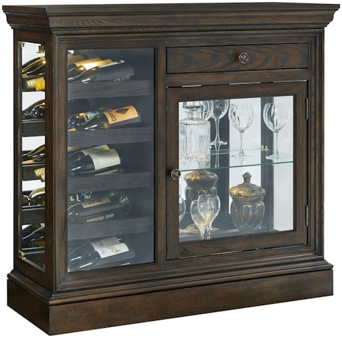 Pulaski furniture curios 21551 wine console northeast for Furniture 0 percent financing