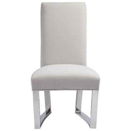 Upholstered Metal Side Chair