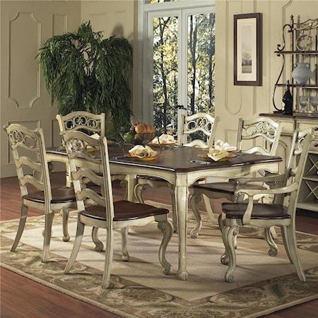7 Piece Semi-Formal Dining Set