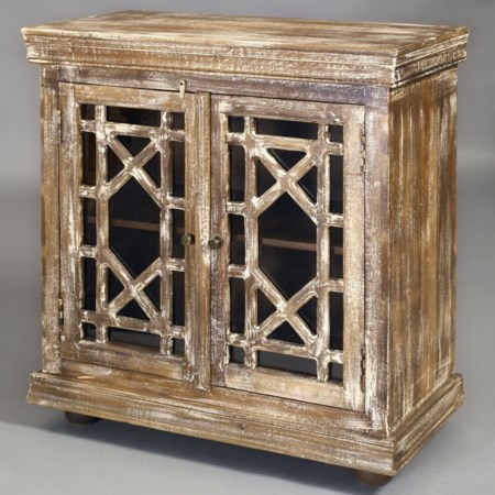 Tunk Hall Chest with Geometric Grill