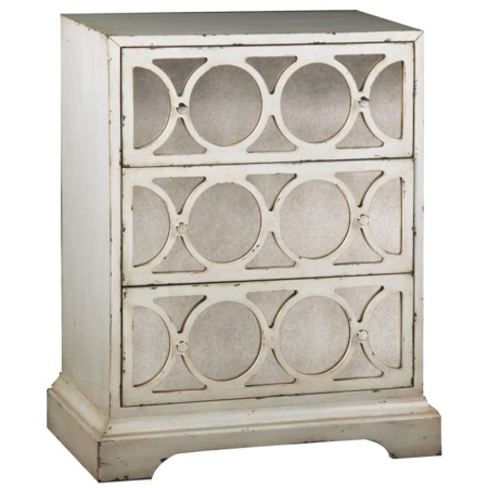Dakota Accent Chest with Antiqued Mirrored Fronts