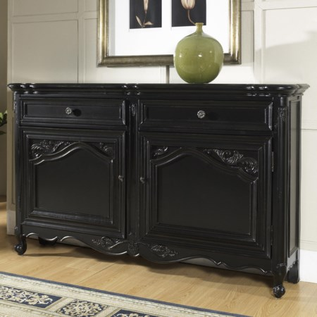 Hall Console Table with Drawers and Doors