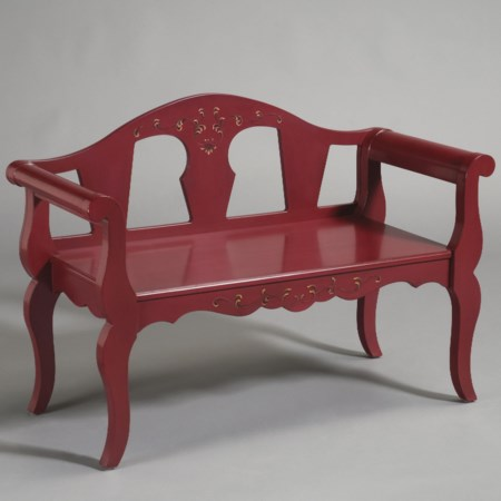 Bench with Cabriole Legs