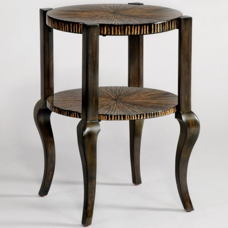 End Table with Cabriole Bottom Legs