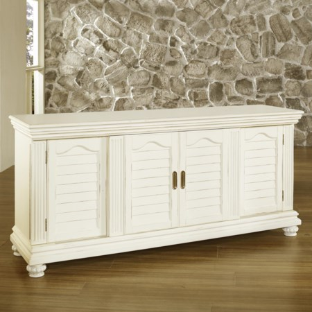 Entertainment Console with Doors