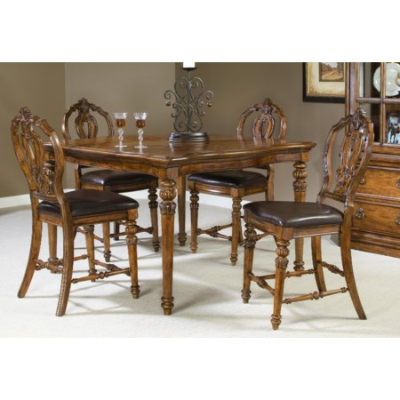 5 Piece Counter Heigh Dining Set
