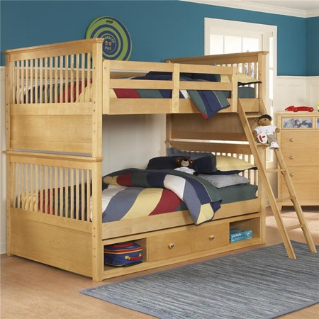 Twin Over Twin Bunk Bed With Under Bed Storage Drawers