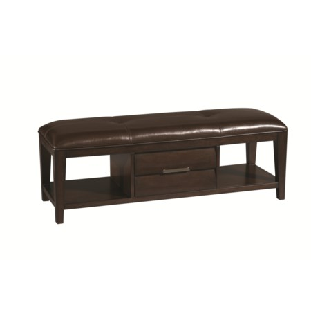 1 Drawer, 2 Open Compartment Bench