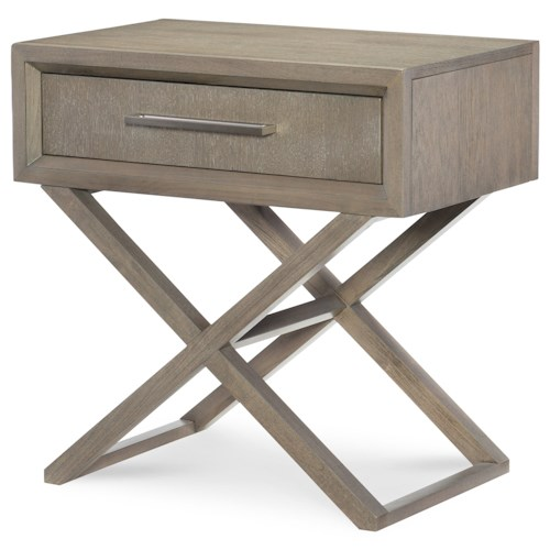Rachael ray home highline bedside chest with drawer for Rachael ray furniture collection
