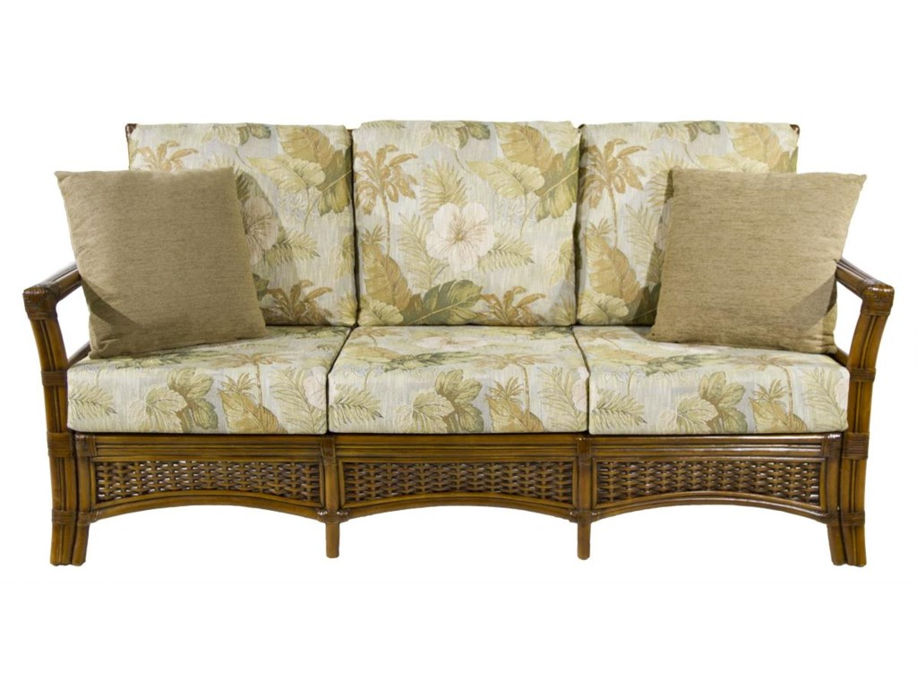 Woven sofa woven rattan sofa by ralph lauren at 1stdibs for Sofa bed jamaica