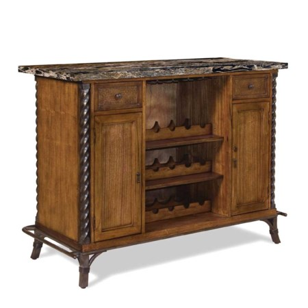 Home Bar with Metal Legs