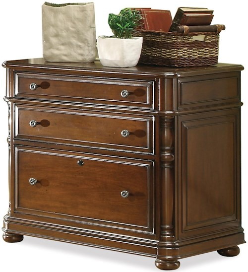 riverside furniture bristol court 3 drawer lateral file cabinet with bun feet wilson 39 s. Black Bedroom Furniture Sets. Home Design Ideas