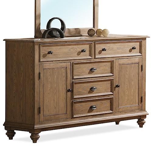 Riverside Furniture Coventry Panel Door Dresser With 5 Drawers Wayside Furniture Dresser