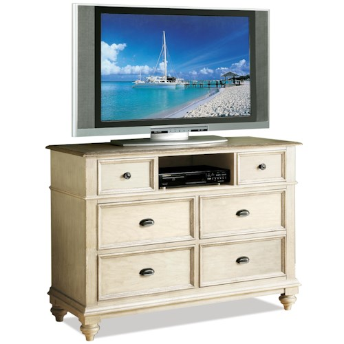 Riverside Furniture Coventry Two Tone 6 Drawer Entertainment Chest Wilson 39 S Furniture Chest
