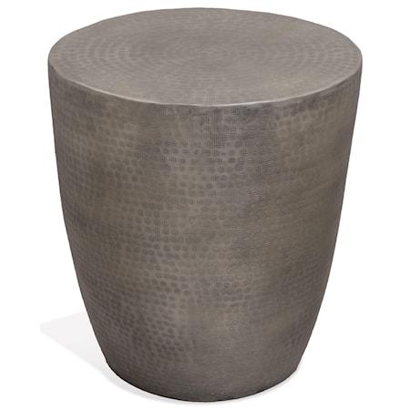 Aluminum Drum End Table
