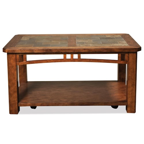 Riverside Furniture Preston Coffee Table W Casters