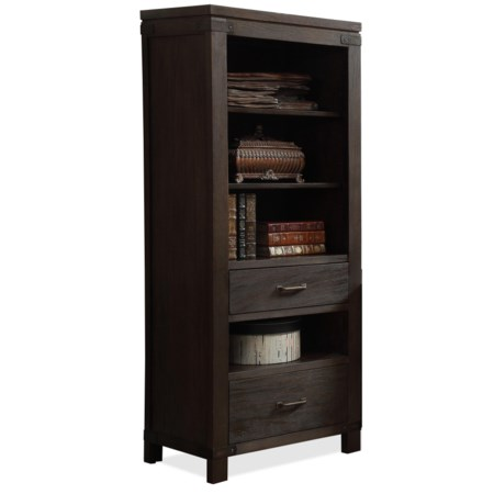 2 Drawer Etagere Pier with 4 Shelves