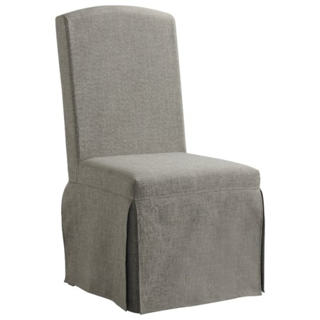 Traditional Upholstered Slipcover Chair