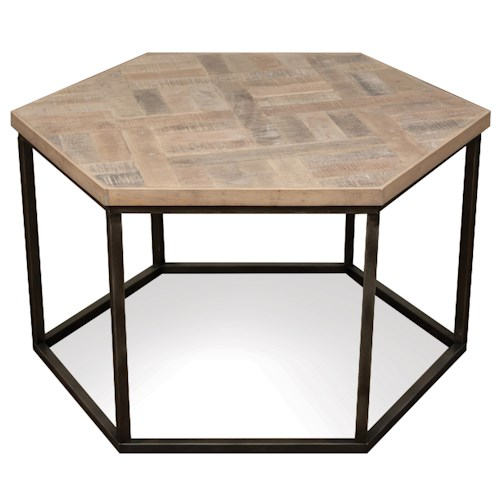 Riverside furniture thornhill hexagon coffee table w for Coffee tables value city furniture
