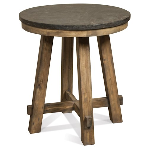 Riverside furniture weatherford round end table wayside for 12 wide side table