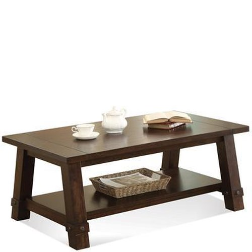 Riverside furniture windridge angle leg cocktail table for Coffee tables value city furniture