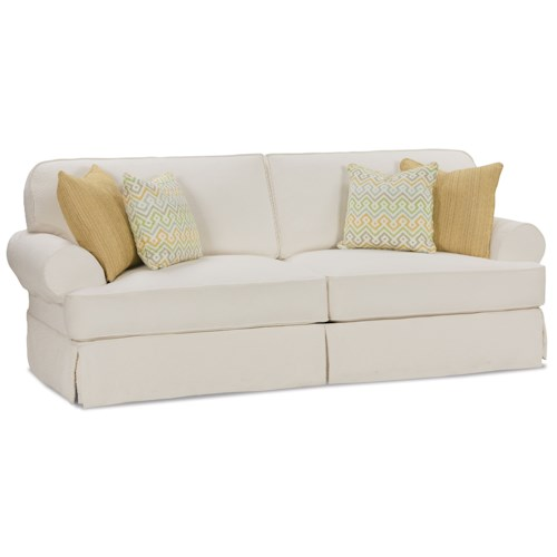 Rowe addison traditional 2 seat sofa with slipcover and for Sofawelt outlet