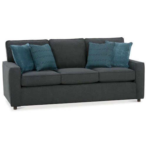 Rowe monaco transitional sofa sleeper with track arms for Transitional sectional sofa sleeper