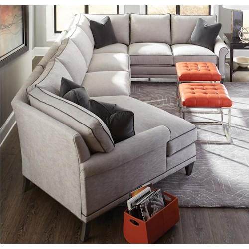 Rowe My Style I Amp Ii Transitional Sectional Sofa With