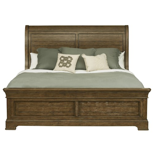Samuel lawrence american attitude queen sleigh bed w low for American home furniture and mattress