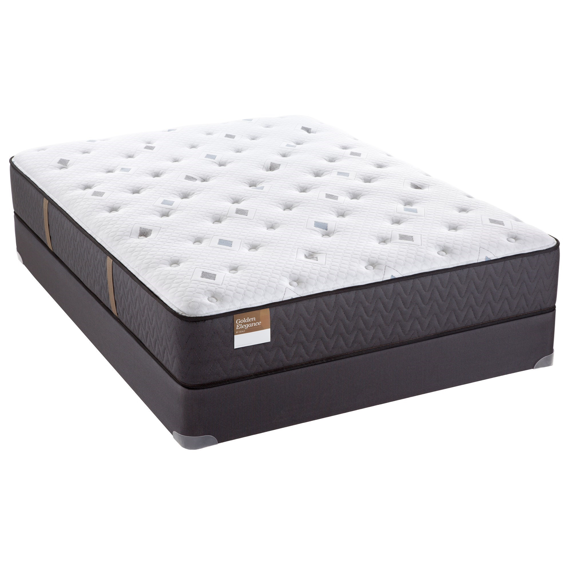 "Sealy Etherial Gold Queen 12 1 2"" Cushion Firm Mattress"