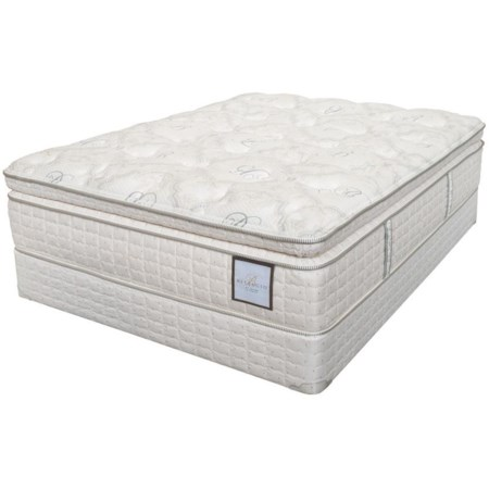 King Plush Super Pillow Top Mattress and Box Spring