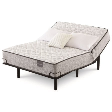 King Firm Pocketed Coil Mattress and Motion Perfect IV Adjustable Base