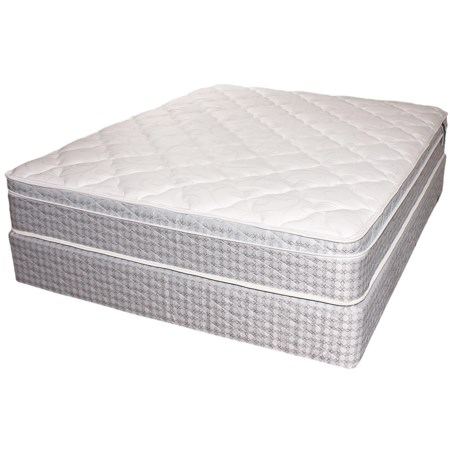 Twin Euro Top Mattress and Foundation