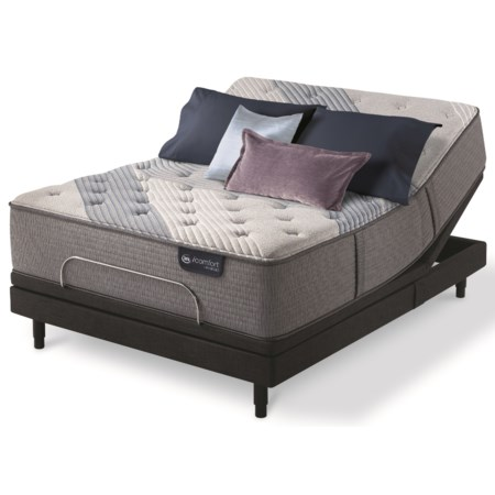 Full Luxury Firm Hybrid Mattress and Motion Perfect IV Adjustable Base