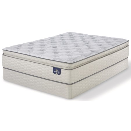 """Twin Firm Super Pillow Top Mattress and 9"""" StabL-Base® Foundation"""