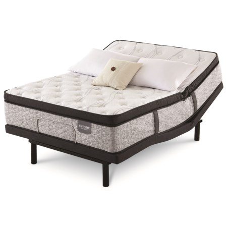 Twin Extra Long Pillow Top Pocketed Coil Mattress and Motion Perfect IV Adjustable Base