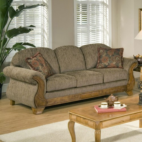 Brand new Serta Upholstery by Hughes Furniture 7400 Traditional Sofa with  GB39