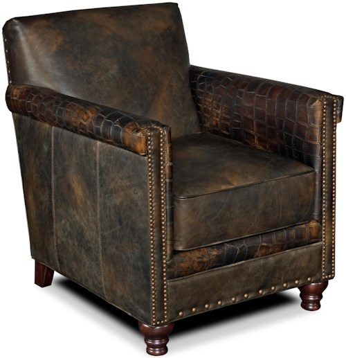 Hooker furniture club chairs potter leather club chair for Furniture 0 down