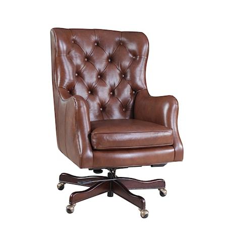 Button-Tufted Executive Chair
