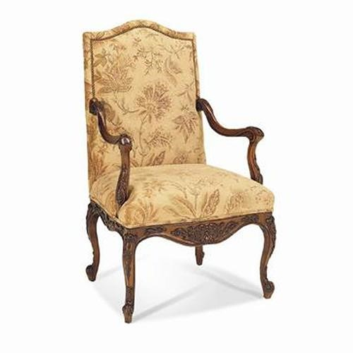Sherrill traditional english tudor carved arm chair for English chair design