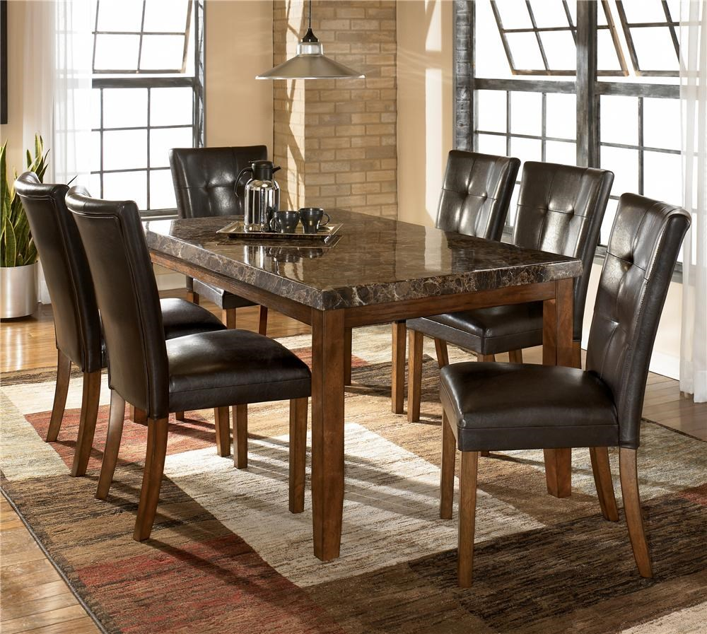 Signature Design By Ashley Lacey 7 Piece Dining Table Chair Set Wayside Furniture Dining 7 Or More Piece Sets