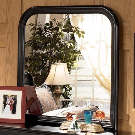 Non-Beveled Dresser Mirror with Rounded Corners