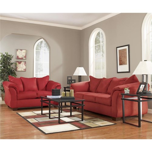livingroom packages signature design by ashley furniture darcy salsa darcy 13 piece living room package sam s 7878