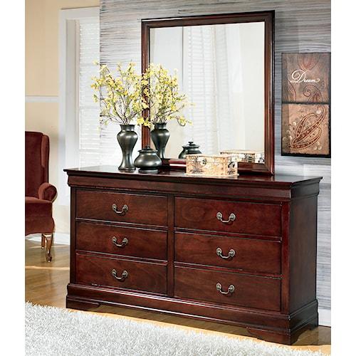 Signature design by ashley alisdair traditional dresser for 12 inch depth dresser