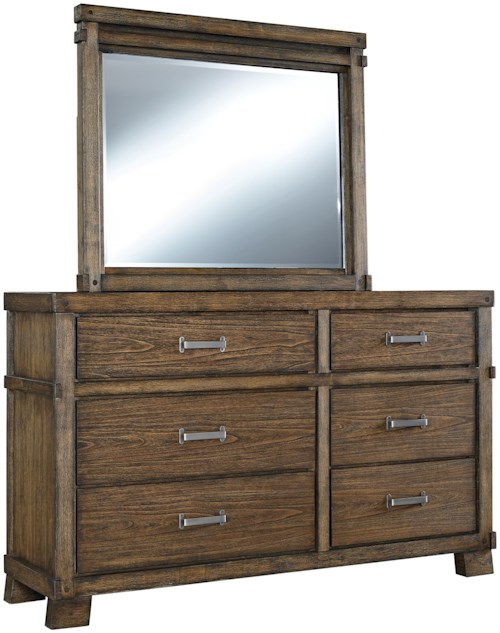 Signature design by ashley leystone comtemporary dresser for Furniture 0 percent financing